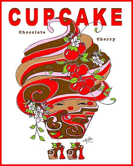 CUPCAKE : Chocolate Cherry by katreece