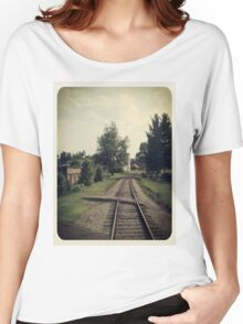 Westbound Through A Small Town Women's Relaxed Fit T-Shirt