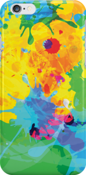 Colorful Ink Splash by silvianeto