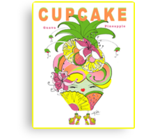 CUPCAKE : Pineapple Guava Canvas Print