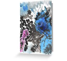 Blue Djinn Greeting Card