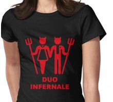 Duo Infernale Womens Fitted T-Shirt