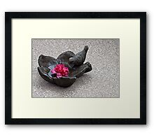 Birdie Bath Framed Print