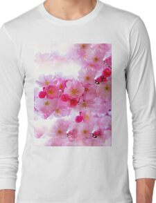 Cherry Blossoms So Pink Long Sleeve T-Shirt