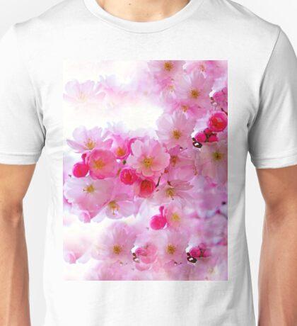 Cherry Blossoms So Pink Unisex T-Shirt