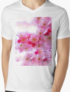 Cherry Blossoms So Pink Mens V-Neck T-Shirt