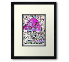 Tribal  Man Portrait  Framed Print