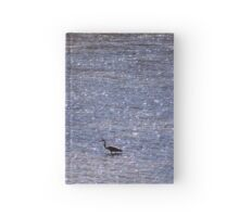 Heron in the Blue Hardcover Journal