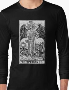 Temperance Tarot Card - Major Arcana - fortune telling - occult Long Sleeve T-Shirt