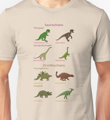 Dinosaur Classification Unisex T-Shirt