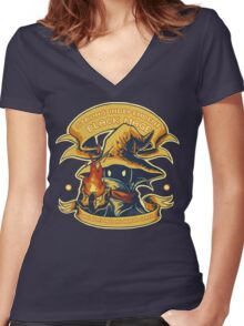 Strong Independent Black Mage Women's Fitted V-Neck T-Shirt