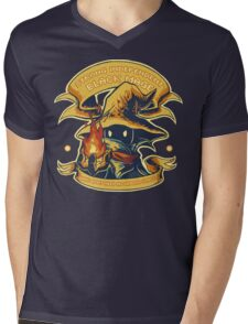 Strong Independent Black Mage Mens V-Neck T-Shirt