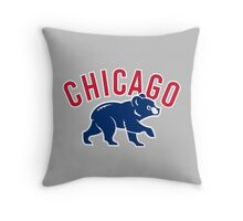 Chicago cubs bear sport Throw Pillow