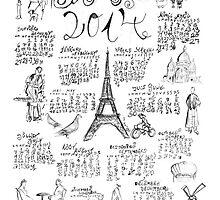 PARIS 2014 Doodle Calendar   by 082010