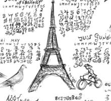 PARIS 2014 Doodle Calendar   Sticker