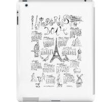PARIS 2014 Doodle Calendar   iPad Case/Skin