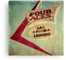 Four Aces Motel  Canvas Print