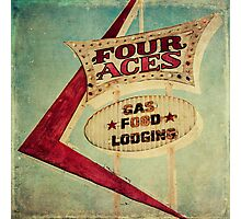 Four Aces Motel  Photographic Print