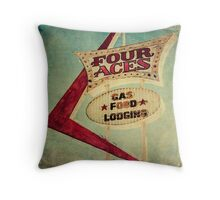 Four Aces Motel  Throw Pillow