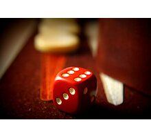 Backgammon game Photographic Print