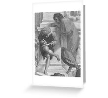 Use Your Illusion - The School of Athens Greeting Card