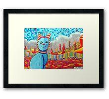 389 - FAIENCE CAT - 02 - DAVE EDWARDS - COLOURED PENCILS - 2013 Framed Print