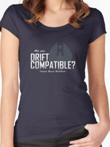 """Are you """"Drift Compatible""""? Women's Fitted Scoop T-Shirt"""