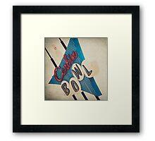 Corbin Bowling Alley Framed Print
