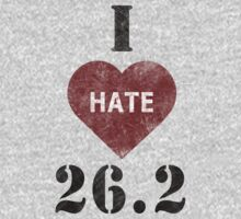 I heart 26.2 marathon t-shirt by Inspyre