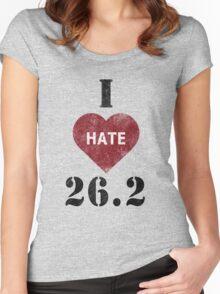 I heart 26.2 marathon t-shirt Women's Fitted Scoop T-Shirt