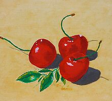 Red cherries by Johanna Bruwer