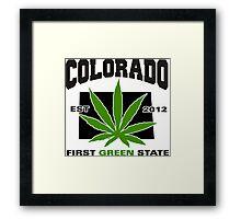 Colorado Marijuana Cannabis Weed T-Shirt Framed Print