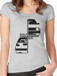 vw golf, golf gti mk2 Women's Fitted Scoop T-Shirt