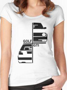 vw golf, golf gti mk2 Women's Fitted Scoop T-Shirt