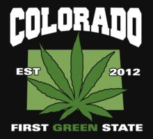 Colorado Marijuana Cannabis Weed T-Shirt by MarijuanaTshirt