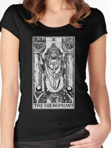 The Hierophant Tarot Card - Major Arcana - fortune telling - occult Women's Fitted Scoop T-Shirt