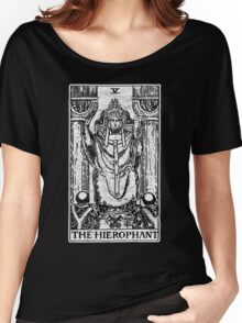 The Hierophant Tarot Card - Major Arcana - fortune telling - occult Women's Relaxed Fit T-Shirt