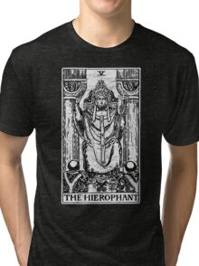 The Hierophant Tarot Card - Major Arcana - fortune telling - occult Tri-blend T-Shirt