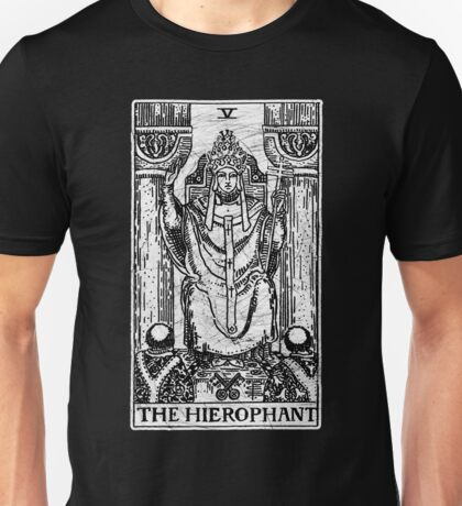 The Hierophant Tarot Card - Major Arcana - fortune telling - occult Unisex T-Shirt
