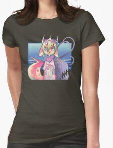 PUNK-devil-C@T Womens Fitted T-Shirt
