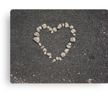 sand heart Canvas Print