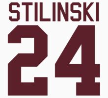Stiles Stilinski's Jersey - maroon/red text by sstilinski