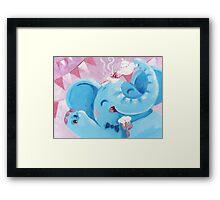 Tea Time - Rondy the Elephant with a tea pot Framed Print