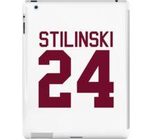 Stiles Stilinski's Jersey - maroon/red text iPad Case/Skin