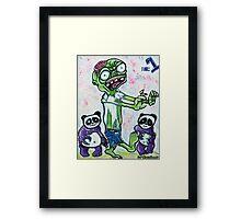 My Pet Zombie #1 - Pandamonium Framed Print