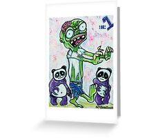 My Pet Zombie #1 - Pandamonium Greeting Card