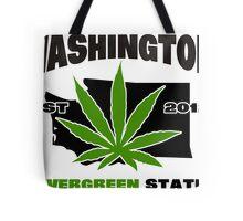 Washington Marijuana Cannabis Weed T-Shirt Tote Bag