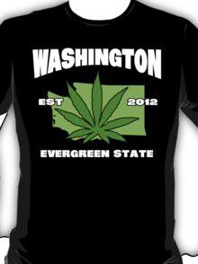 Washington Marijuana Cannabis Weed T-Shirt T-Shirt