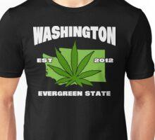 Washington Marijuana Cannabis Weed T-Shirt Unisex T-Shirt