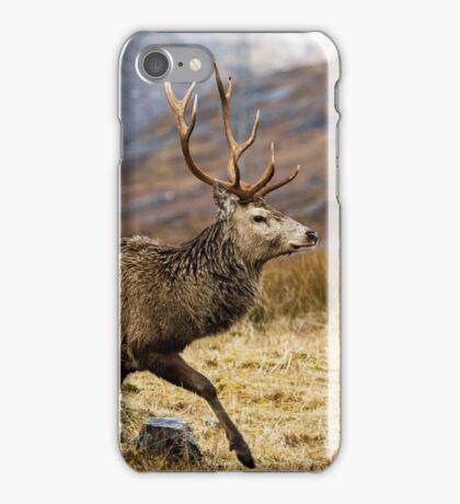 Red Deer Stag Running iPhone Case/Skin